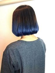 #青い グラデーションカラー